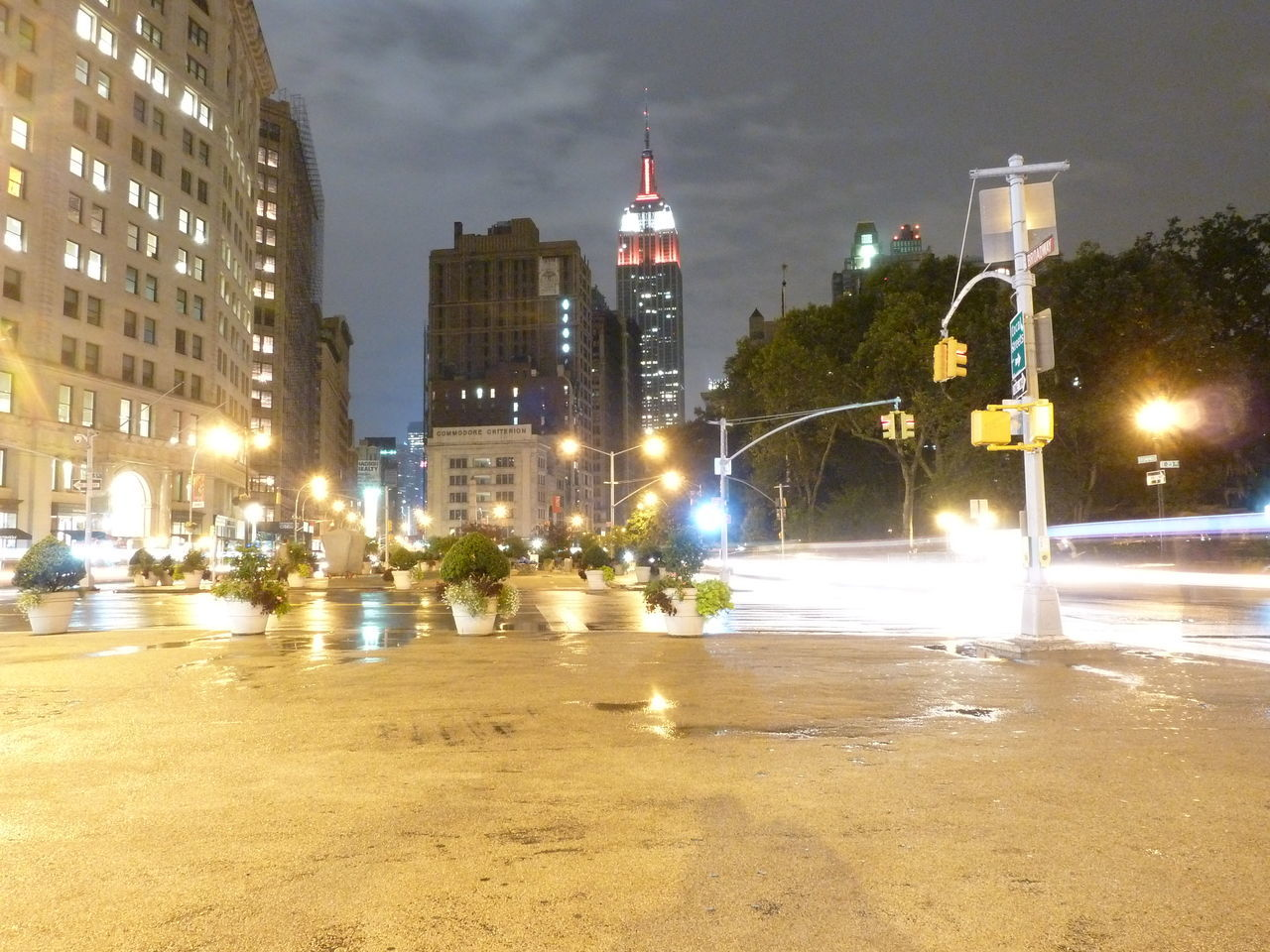illuminated, architecture, night, building exterior, built structure, city, street, street light, transportation, sky, outdoors, land vehicle, no people, tree