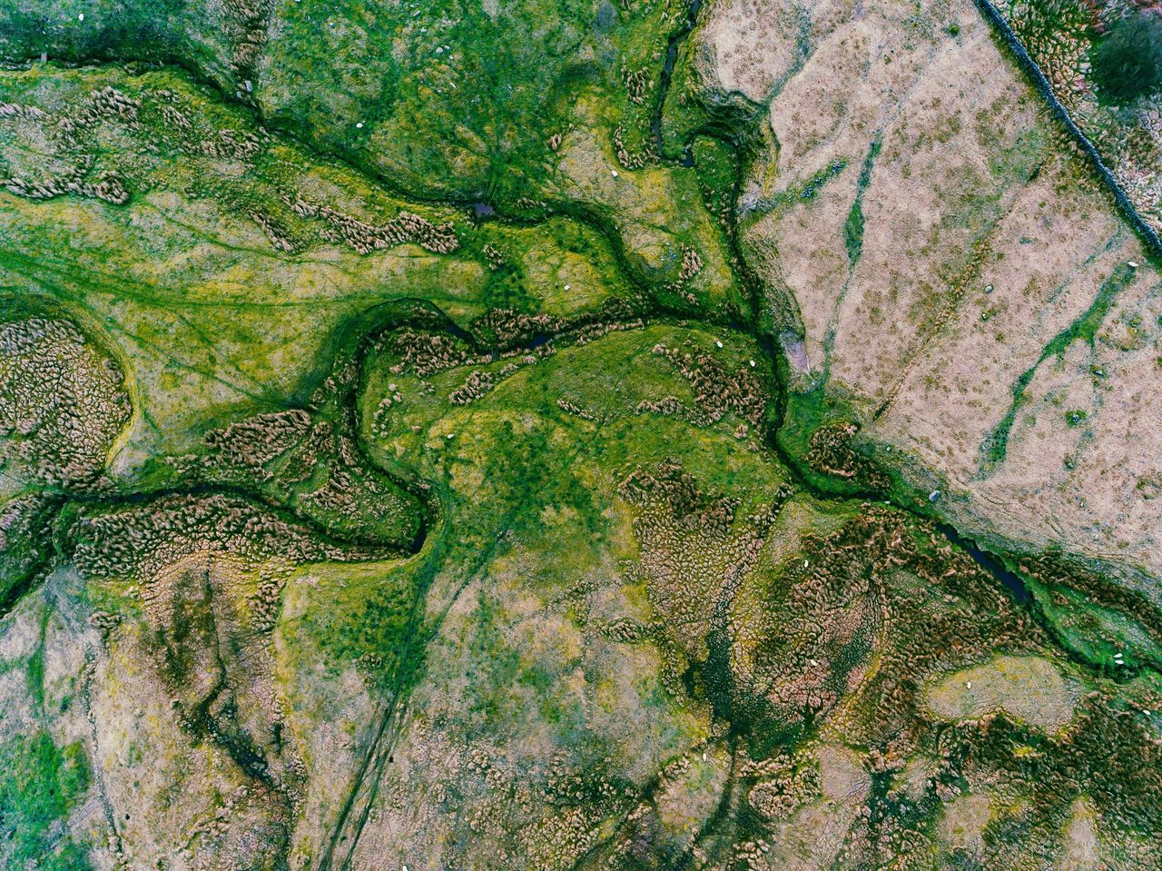 Peak District Aerial View Agriculture Rural Scene Landscape No People Outdoors Nature Scenics Day Water