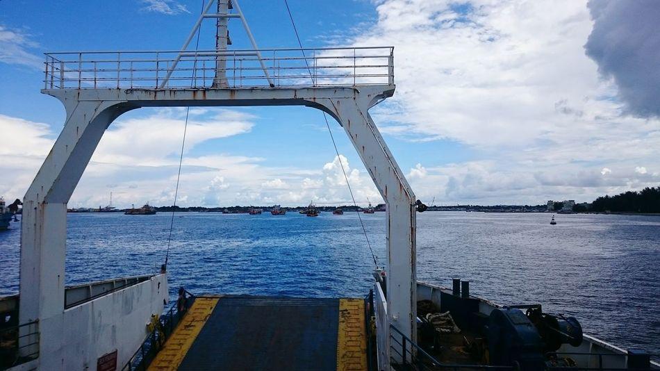 Ferry Boat Haul Loading Dock Sea And Sky Ship