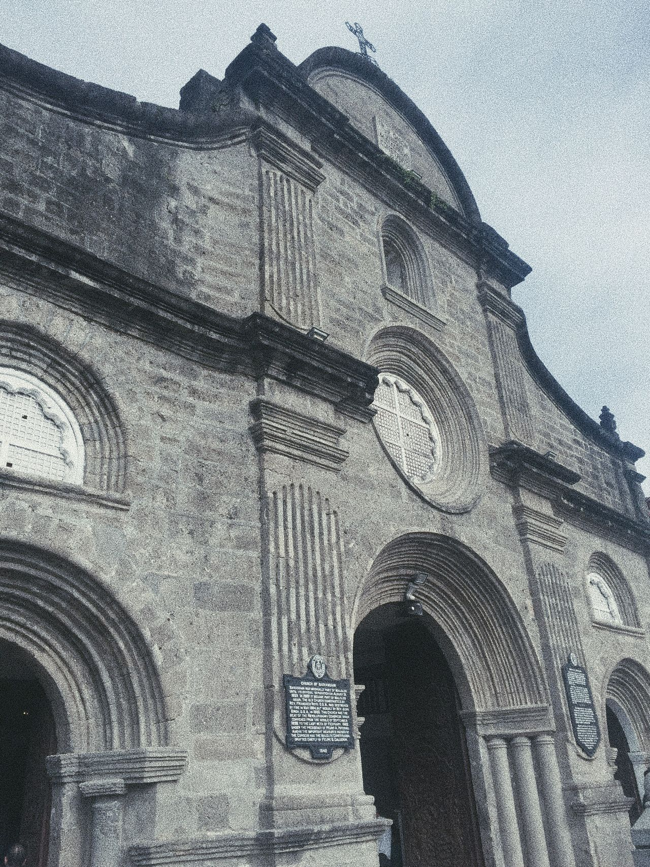 Historical Church... Low Angle View Architecture Built Structure Building Exterior Arch Religion Sky Travel Destinations Place Of Worship Day No People Outdoors History Spirituality Rose Window