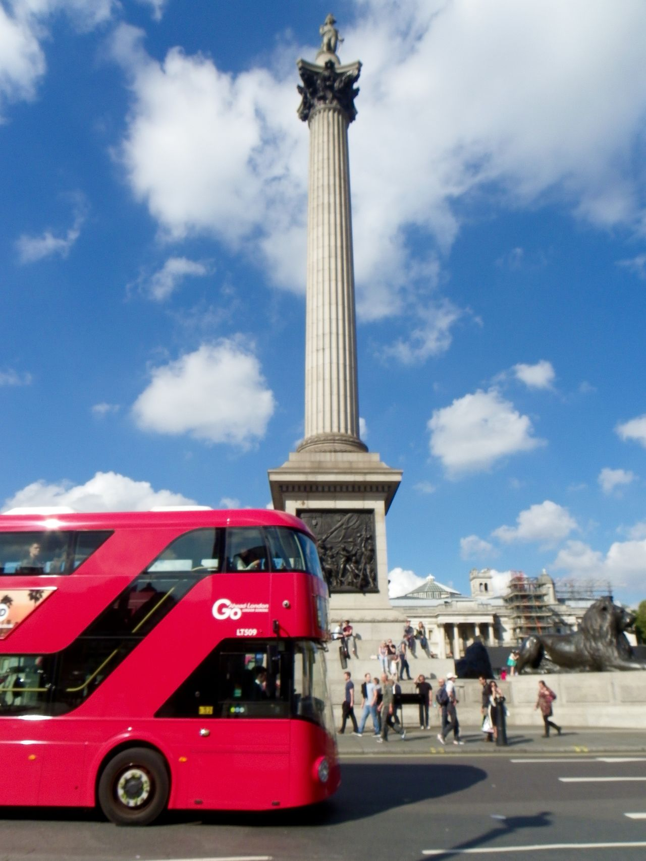 Tourist location Architecture City Cloud - Sky Day London Bus Nelsons Column Outdoors People Real People Red Sky Tourist Travel Destinations
