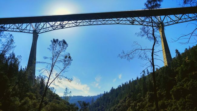 On my hike today under the Foresthillbridge American River Auburn, CA Sky Cloud - Sky Outdoors Nature No People California Day Bridge