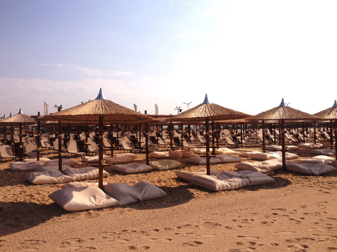 Sand Sky Built Structure Architecture No People Outdoors Day Beach Summer Greece Colourful Greece Enjoying The Sun Enjoying Life Symmetry