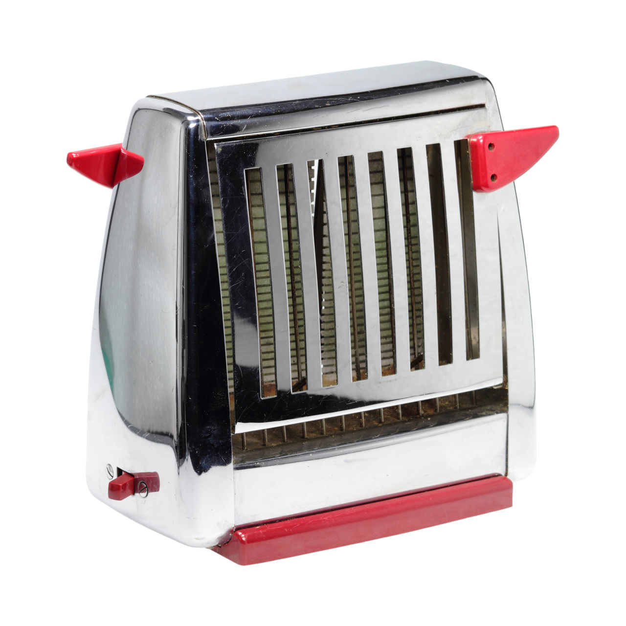 Close-Up Of Toaster Against White Background