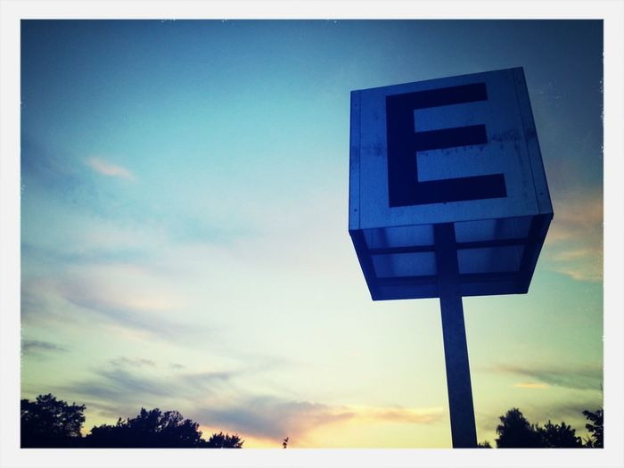 Sunset Parking Letter E