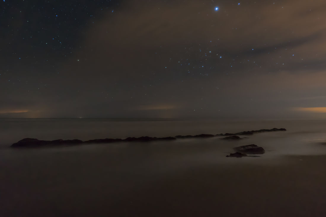 Landscapes With WhiteWall Landscape Nightphotography SONY A7ii 21mm Night Stars Long Exposure Shore Beach Sea Sea And Sky