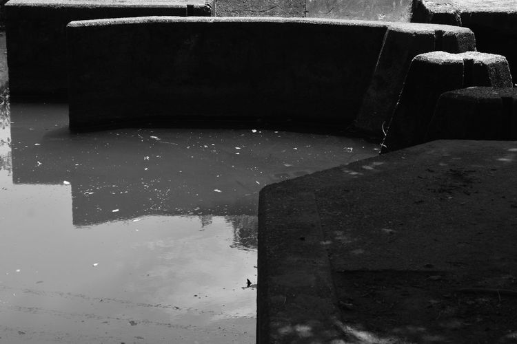Dark Shapes Abstract Blackandwhite Close-up Day Geometric Shape Geometry Monochrome No People Outdoors Pattern Water