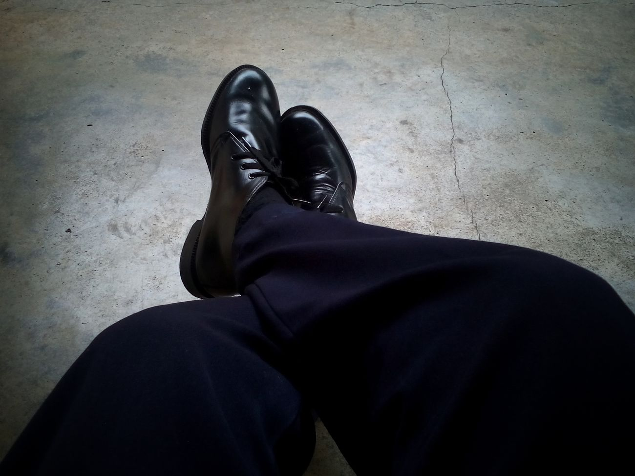 Human Body Part One Person Black Color People Human Leg Unrecognizable Person Adult Adults Only Low Section Standing Real People One Man Only Men Indoors  Only Men Day Close-up Shoe