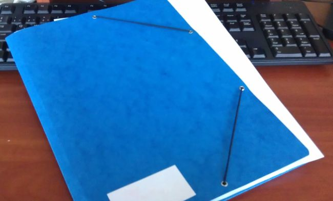 Blue Folder Modern Office Presentation Work