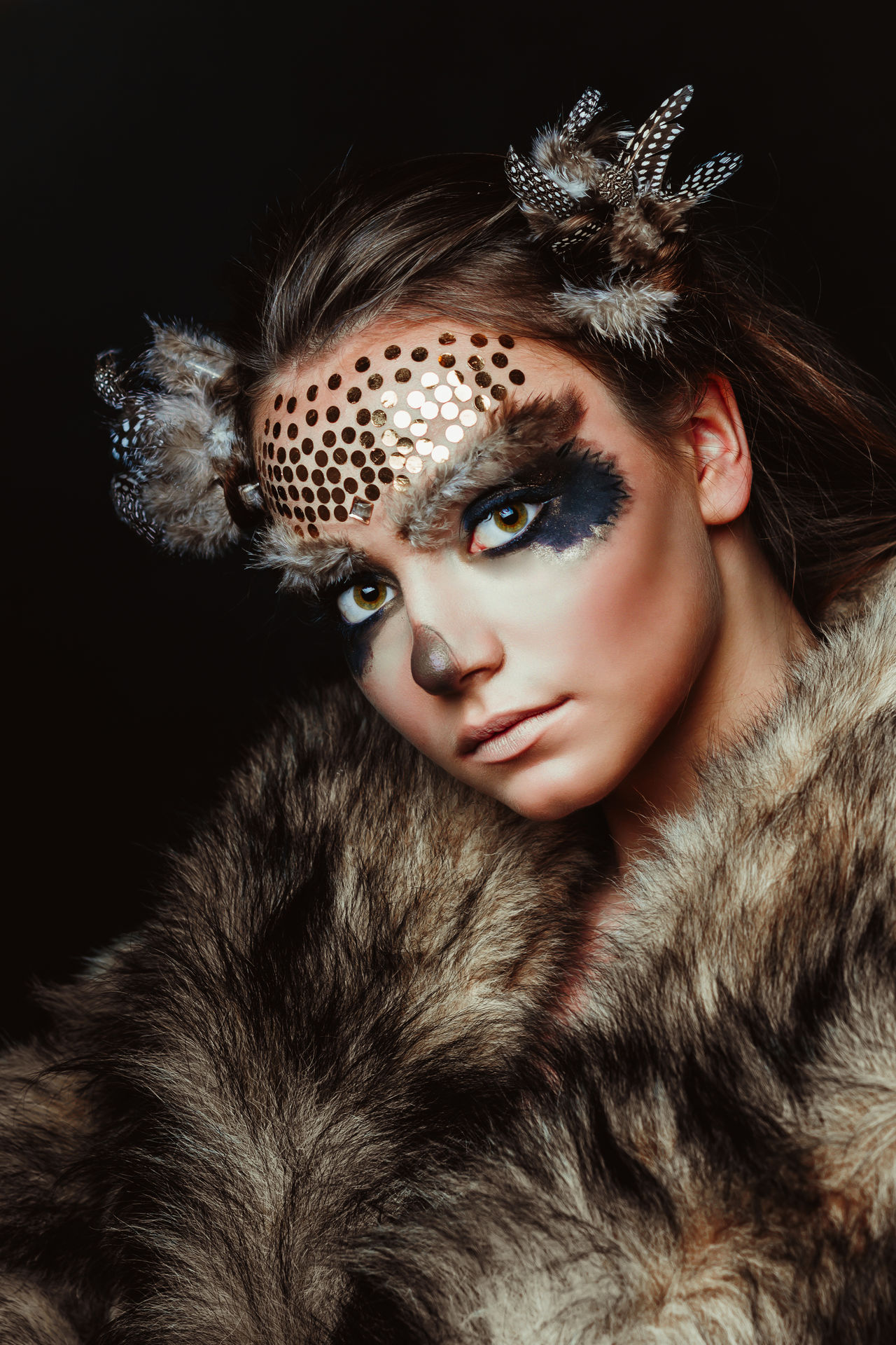 Art Art Photography Beauty Cool Attitude Cover Editorial  Editorial Fashion Elégance Fantasy Fantasy Dreaming Fantasy Edits Fantasy Photography Fashion Fashion Model Glamour Hairstyle Human Face Make-up Makeup Owl Portrait Stage Make-up Studio Shot