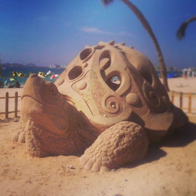 Wonderful sculpture of a wonderful creature at Jbr Dubai