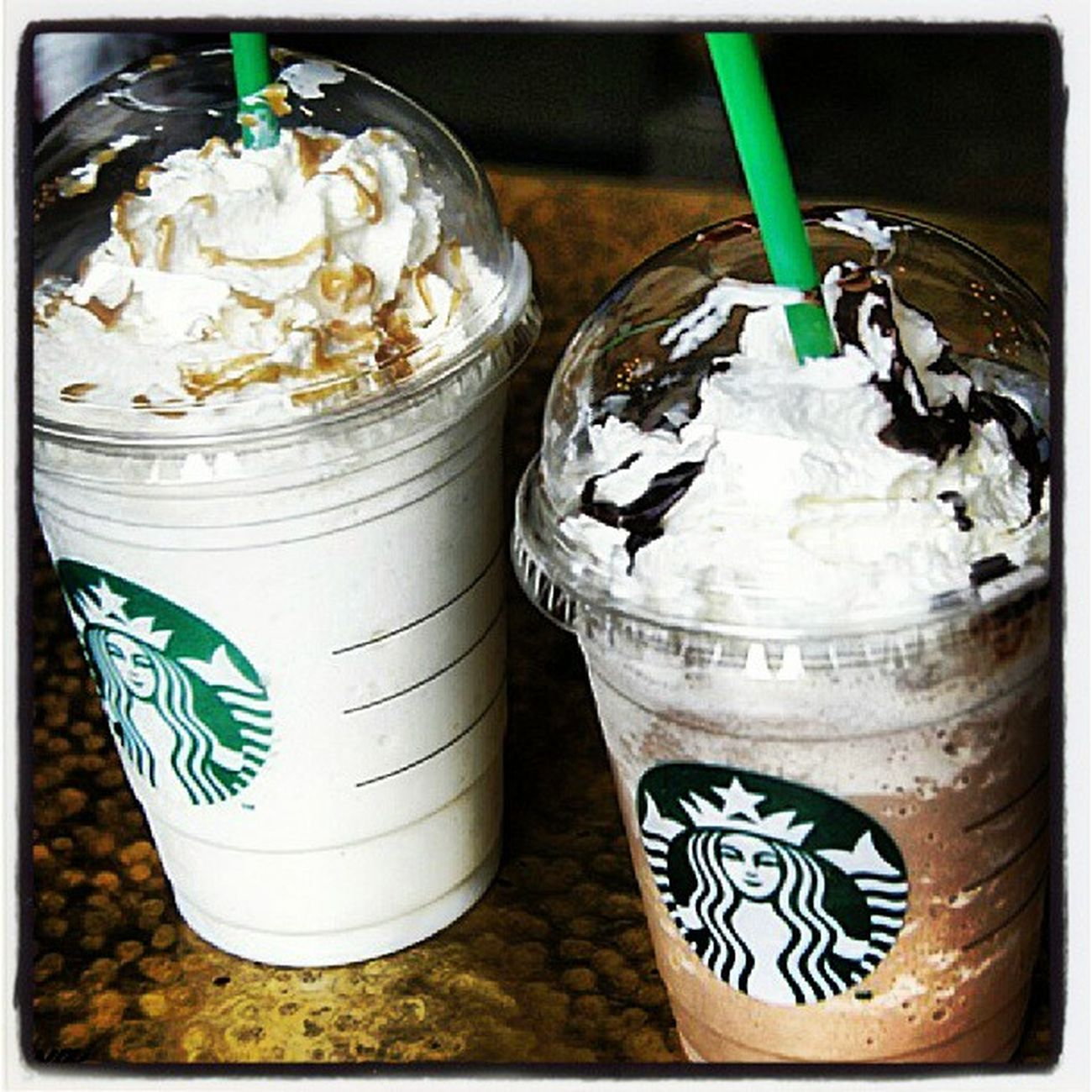 Madrid Starbucks Frappuchino Dulce Nata Caffee Chocolate Caramelo Vainilla Gordas