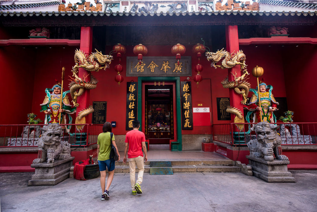 Tourists visiting a Taoist Temple - Guan Li Temple here in Kuala Lumpur, Malaysia EyeEm Best Shots Faith Kuala Lumpur Red Taoist Tourist Tourist Attraction  Travel Ancient Architecture Belief Building Exterior Built Structure Chinese Day Eyeem People Full Length Malaysia Men Outdoors People Place Of Worship Praying Real People Religion Sculpture Shrine Spirituality Standing Statue Street Photography Taoim Temple Travel Destinations