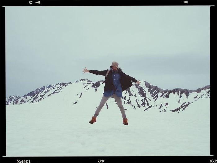長野からダムを超えて富山へいっきに真冬の雪の壁へ Snow Mountain Jamp!