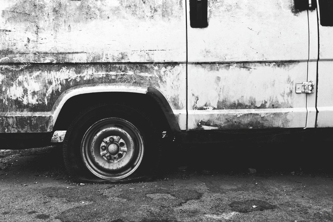 Land Vehicle Transportation Mode Of Transport Tire Car Wash Day Car Vehicle No People Indoors  Close-up Dirty Old Grunge