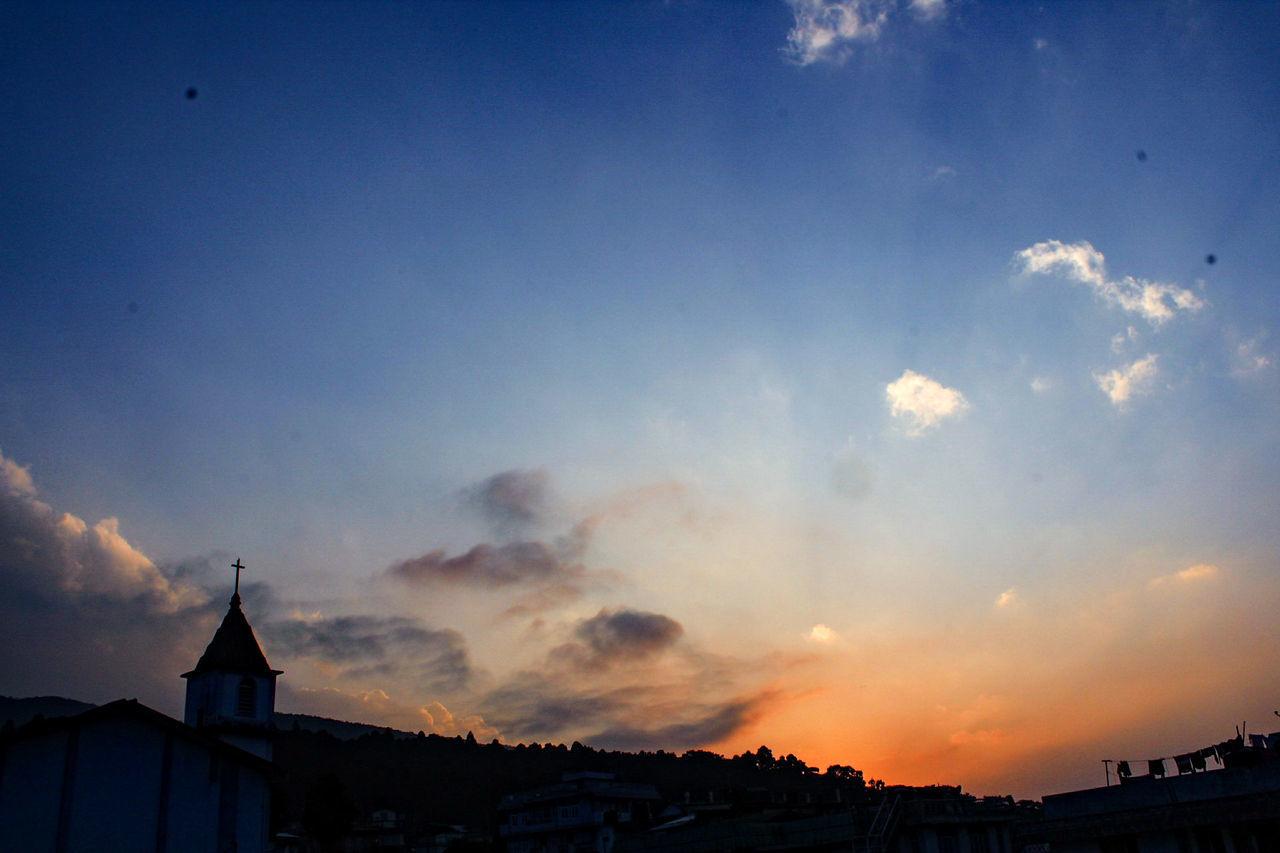 Sky Sunset Silhouette No People Cloud - Sky Orange Orangeandblue Outdoors Church Cross Dramatic Sky EyeEm Best Shots Like4like Follow4follow