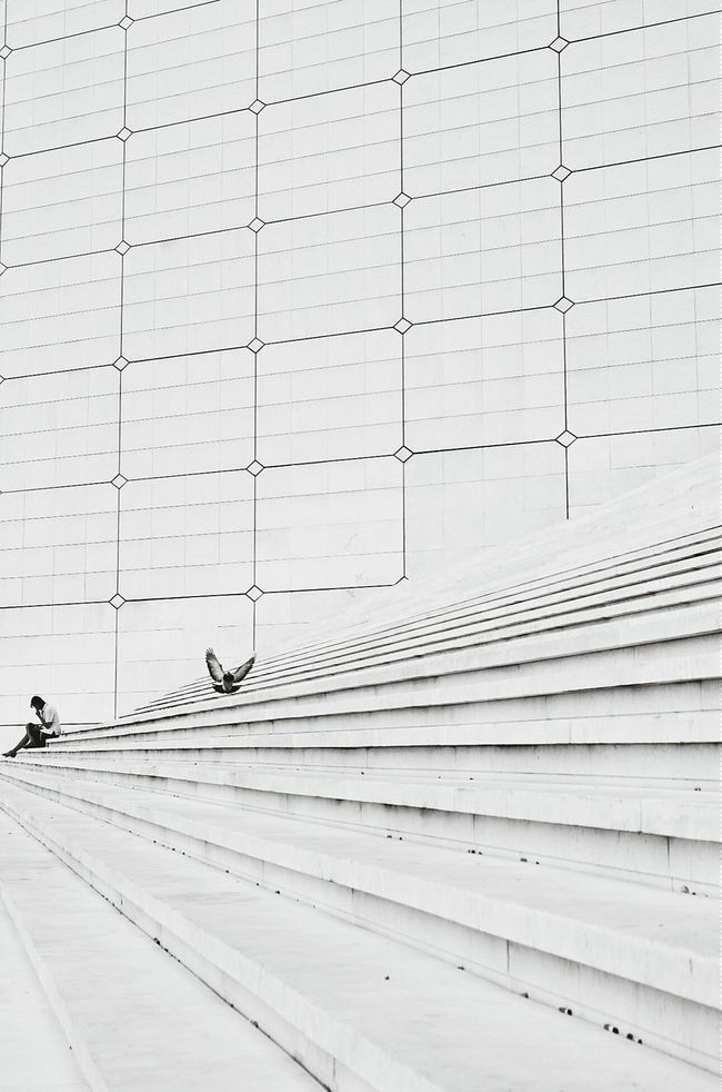 Blackandwhite Urban Geometry Urban Landscape Paris La Defense La Grande Arche Architecture The Architect - 2015 EyeEm Awards Amazing Architecture Pattern Pieces Fine Art Photography