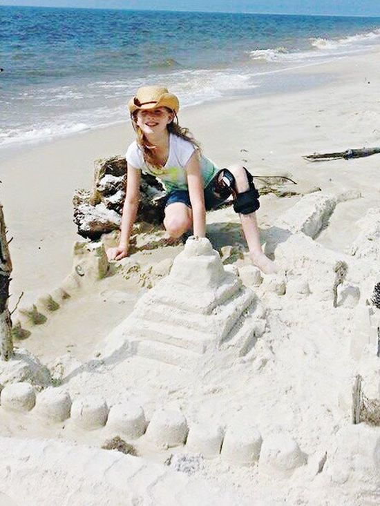 My Sweet Girl Building Sandcastles Sea Side Memories ❤ Family Happiness The Best Things In Life Are Free Dauphin Island Summertime