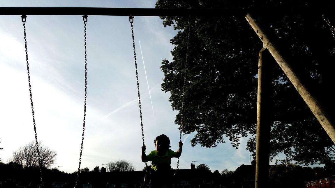 Park Swings Dark Laughing My Son Henry Marmaduke Chemtrails Whatthefuckaretheyspraying GeoEngineering Not In My Name