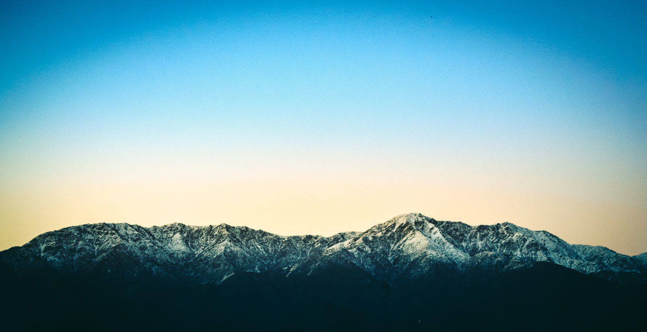 Mt.baldy Clear Sky Sunset Sky No People Outdoors Nature Mountain Betterlandscapes Urban Landscape Landscape Landscape_Collection Mountains Landscape_photography Beauty In Nature Sony A6000 California Mountain Range Sonya6000 Sonyalpha Adapted To The City