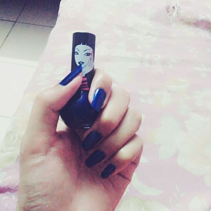 Trying out new colors .. Nailpaint Elle18 Colorpop Midnightmadness Pamperyourself Becolorful Coz LifeIsTooShort To  Be Dull