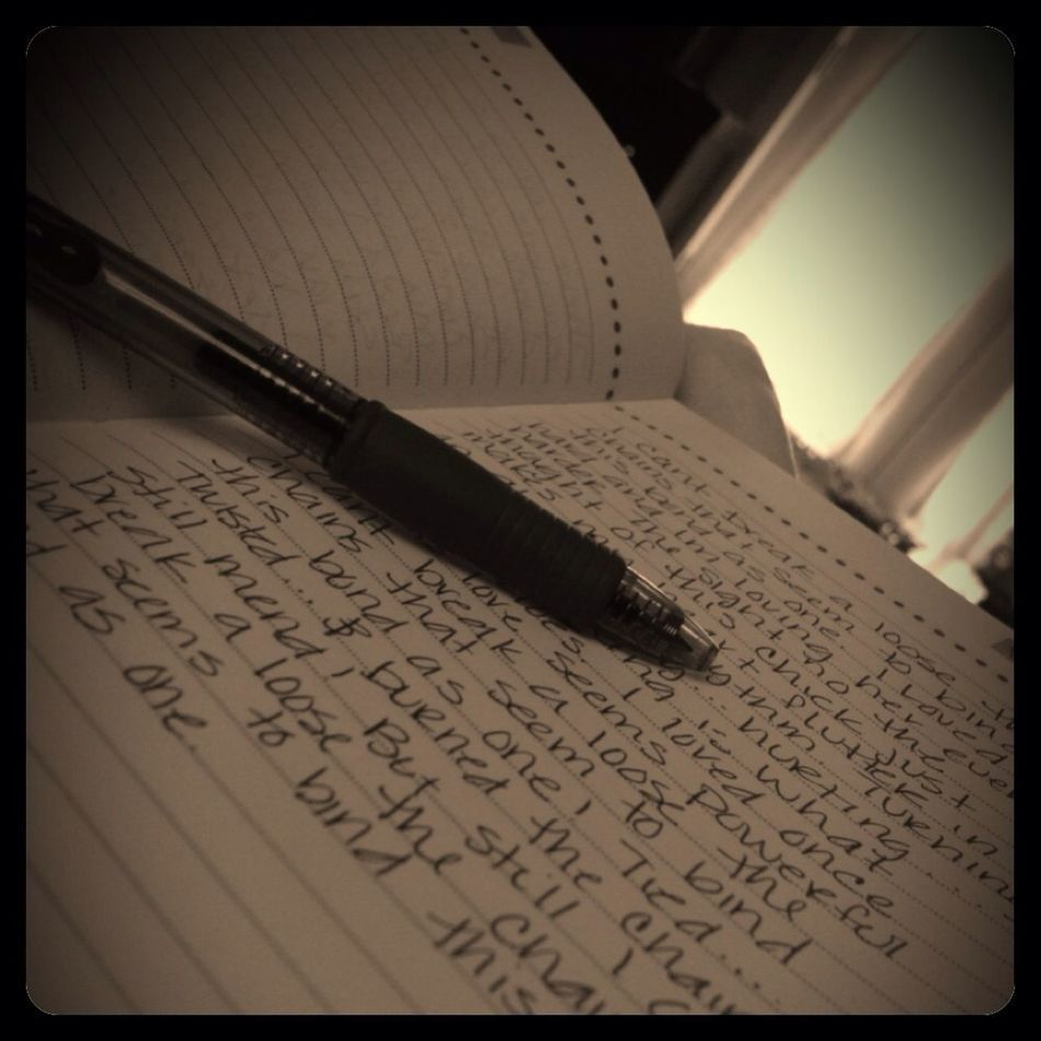 Writing And Relaxing