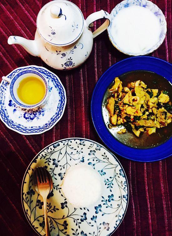 Time for dinner Dinner Thai Food Vintage Meal Tea Art Of Food Thai Recipe