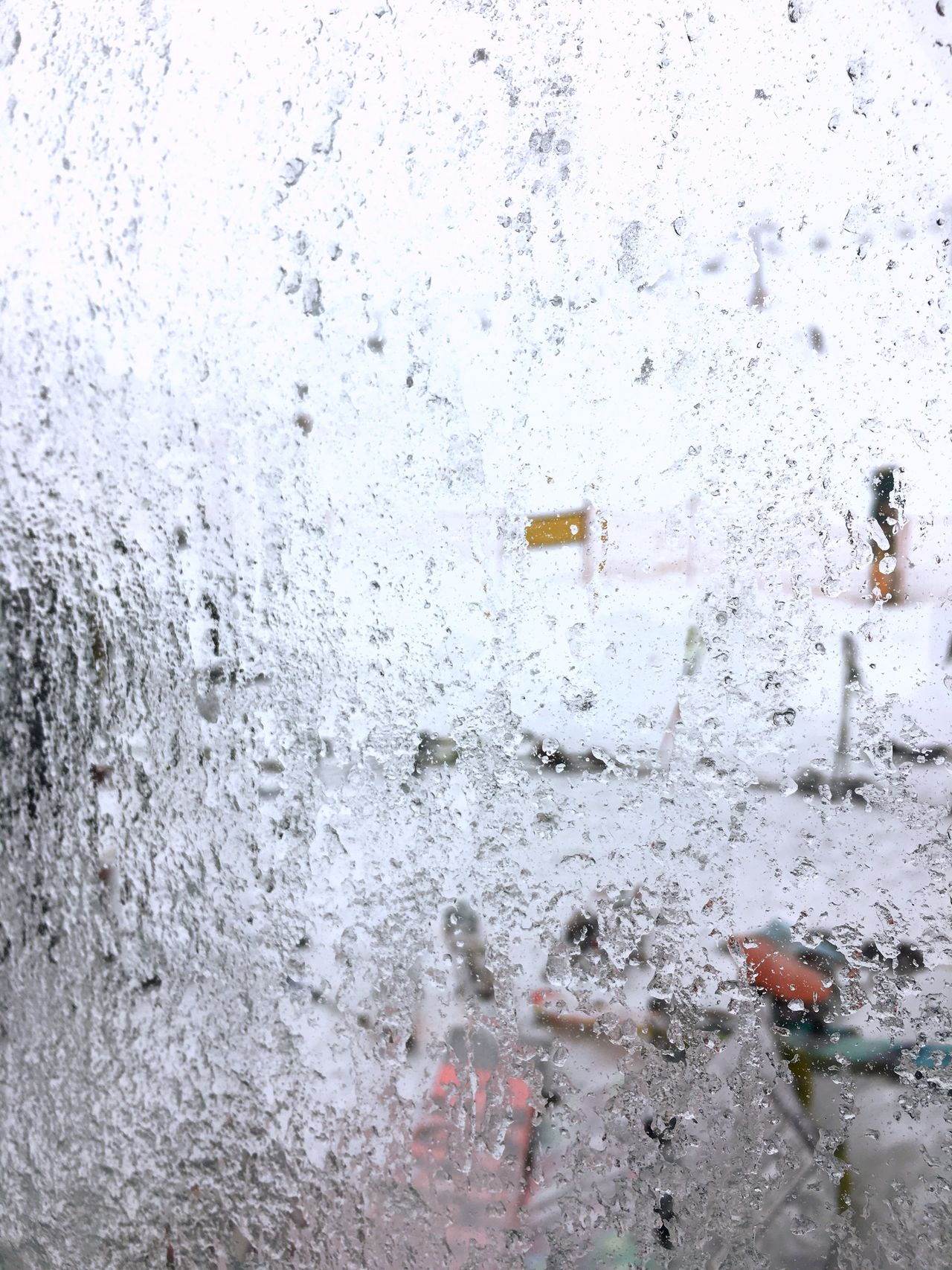 Blizzard Icy Window From My Window Bariloche Catedral Snow Weather Cold Cold Temperature Ice Winter El Cabo