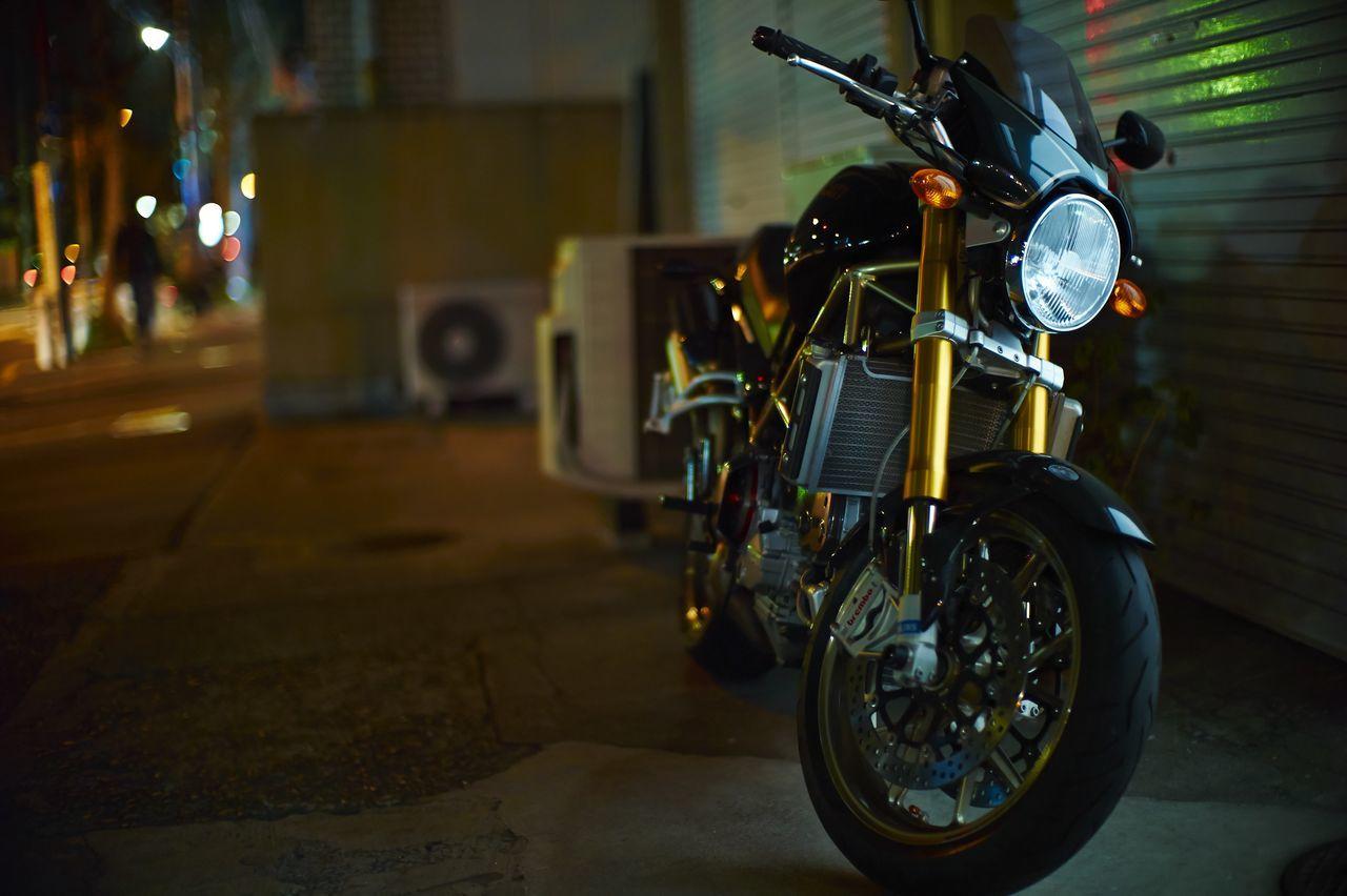 Beautiful stock photos of bike, Empty, Focus On Foreground, Motorbike, Night