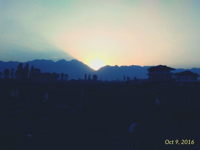 The amalgam of Day and Night TakeoverContrast Asuszenfone2 Mobilephotography Nature Sunrise Sunrise_Collection Kashmir Srinagar Kashmir