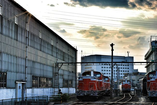 07.2008 Takasaki Takasaki City Gunma Japan Train Tracks Train Station Train Yard Afternoon Clouds And Sky Photowalk Summer