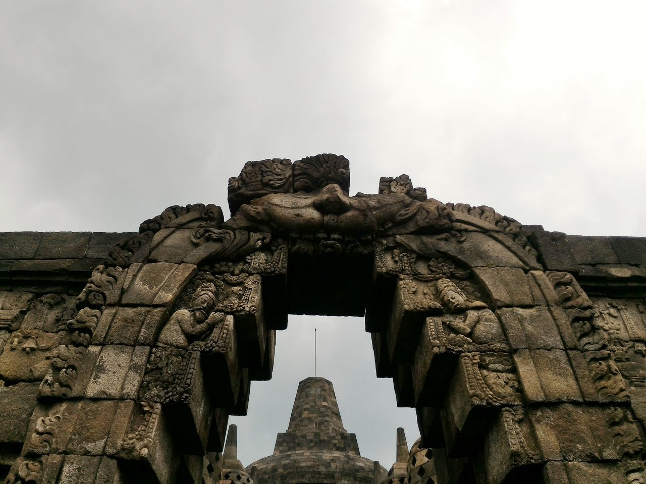 The Big Stupa Low Angle View Stupa Temple Borobudur Temple, Indonesia Historical Building Ancient Heritage Heritage Site Relief Stone Material Sky Cloud - Sky Gate Entrance Gate Travel Travel Destinations EyeEmNewHere Flying High