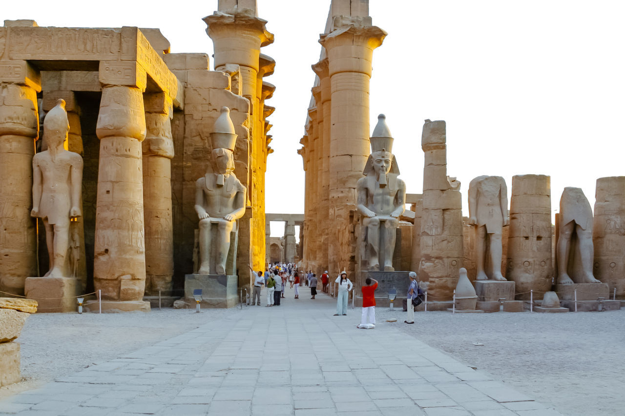 Court of Ramses II, Luxor Temple. Egypt. Archaeology Architectural Column Architecture Egypt History Karnak Temple Luxor Old Ruin Ramesses II Religion Statue Temple Tourism Travel Destinations