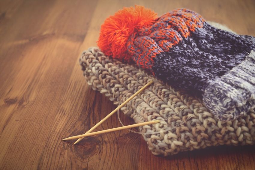 knitting needles with scarf and hat Wool Balls Wool Hat Scarf Scarf Season Knitting Needle Knitting Wool Knitt Wool Handcrafted Knitting Project Knitted  Wooly Knitting Handmade Handmade Crafts Knitting Wear