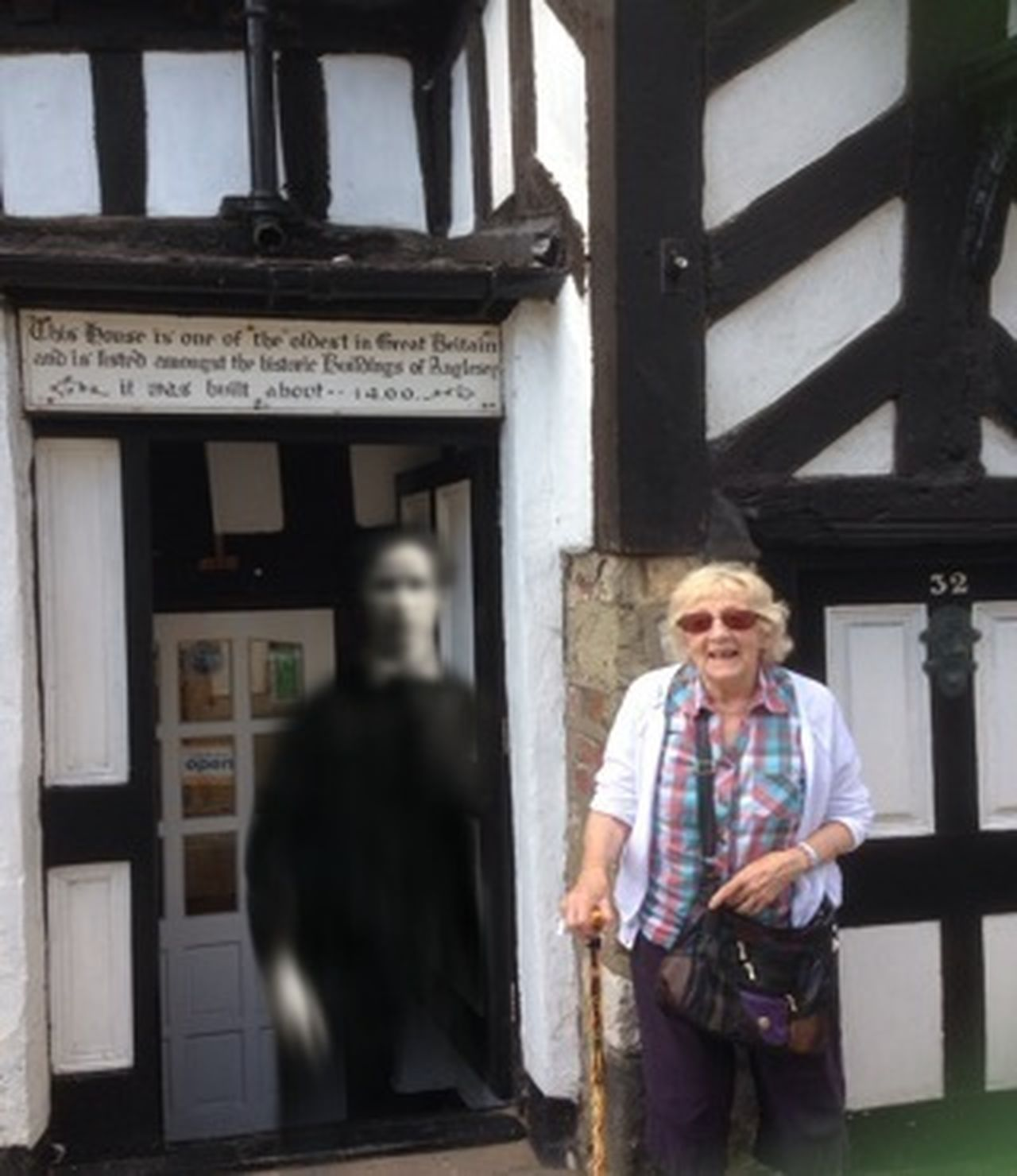 Photo bombing ghost Ghost Sighting Old Lady Old Building