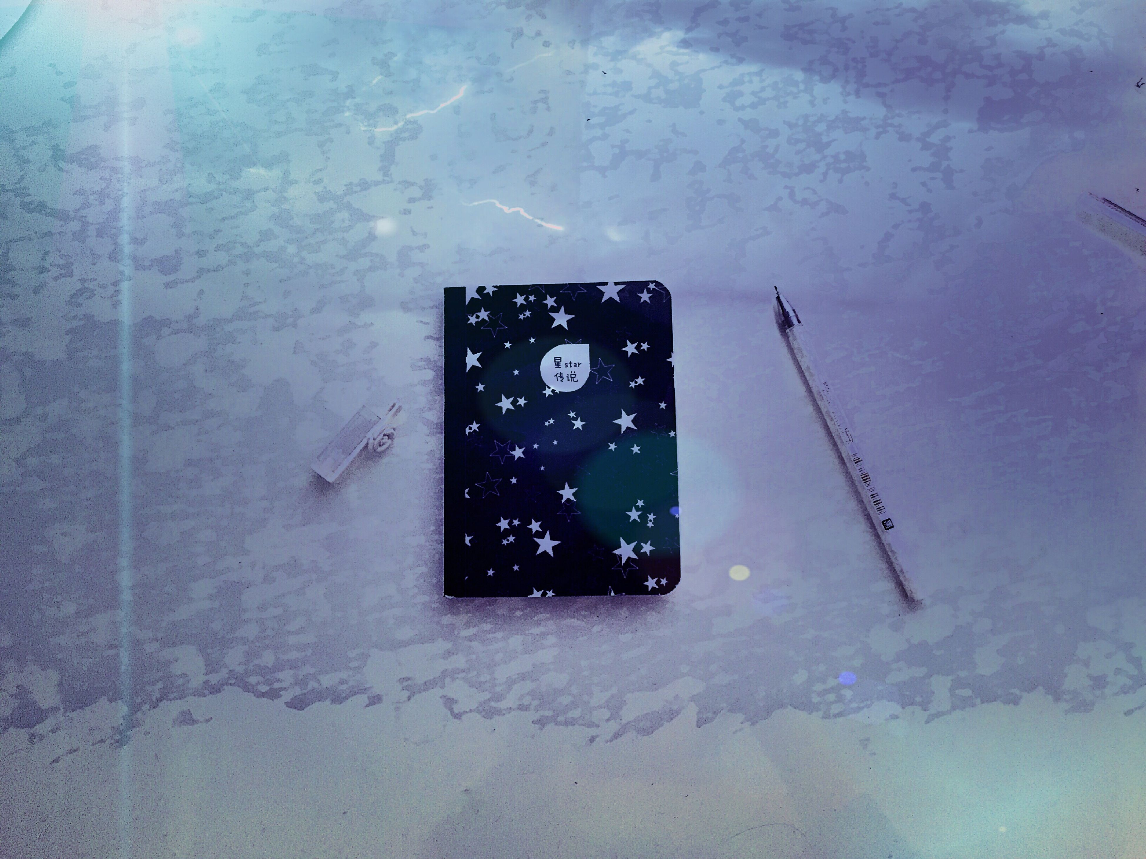 Mini Laptop Aestheticism Legend Of The Stars Artistic Conception Black Star Shape Purple Notebook