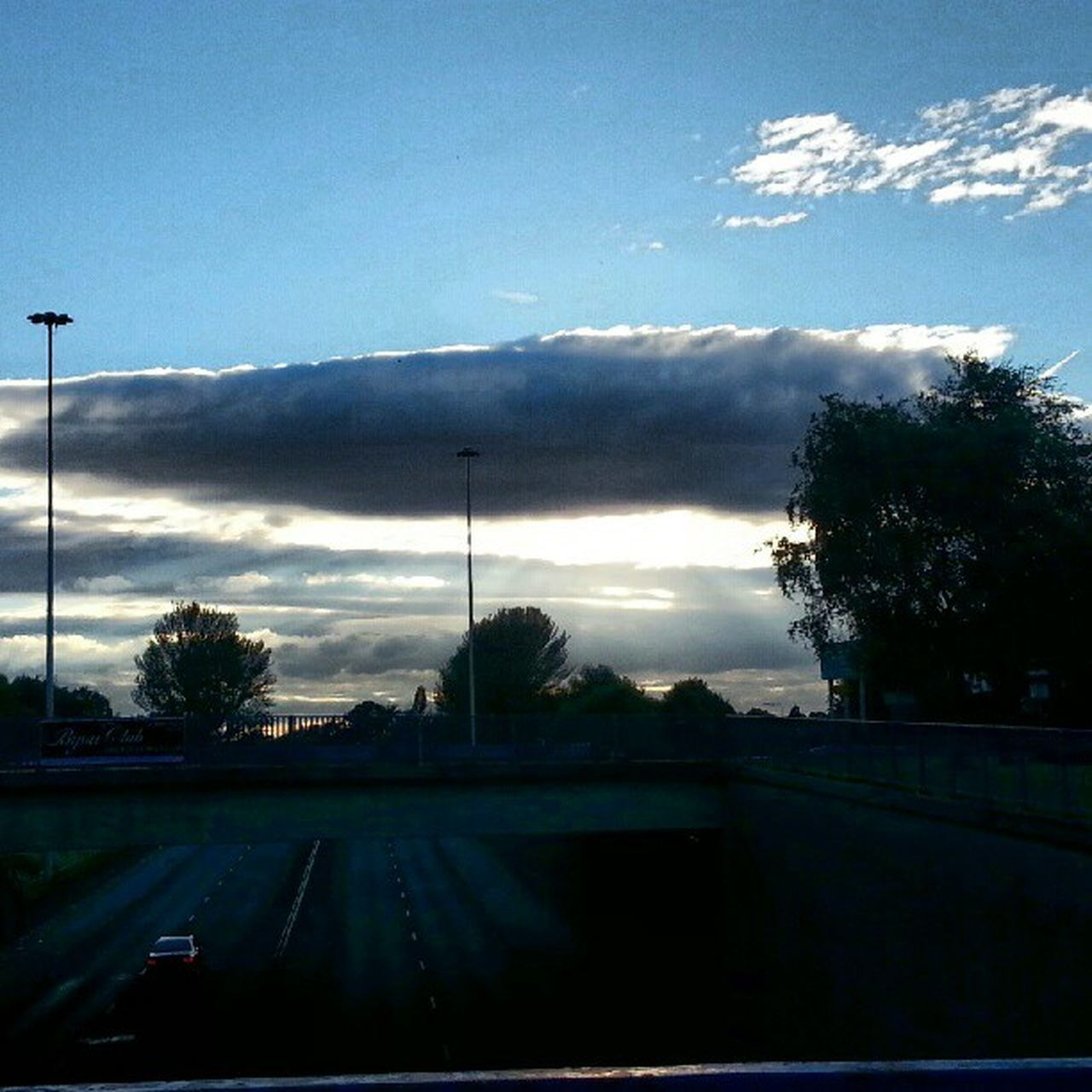 tree, road, sky, cloud - sky, car, no people, nature, outdoors, day, beauty in nature