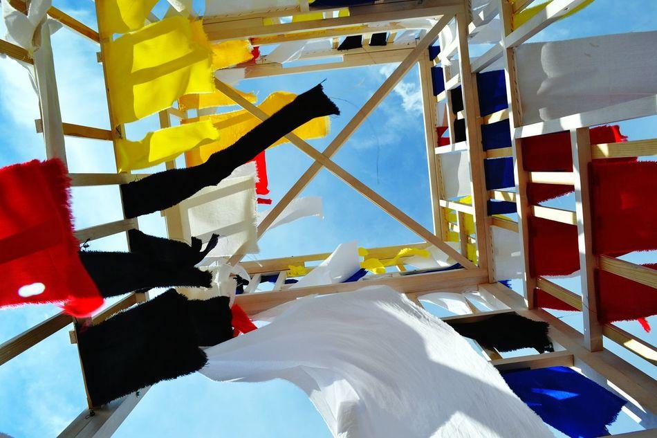 Magnificent instolation on the Volga river beach. VolgaFest weekend Modern Art Volgafest Volga Sky Wind Handmade