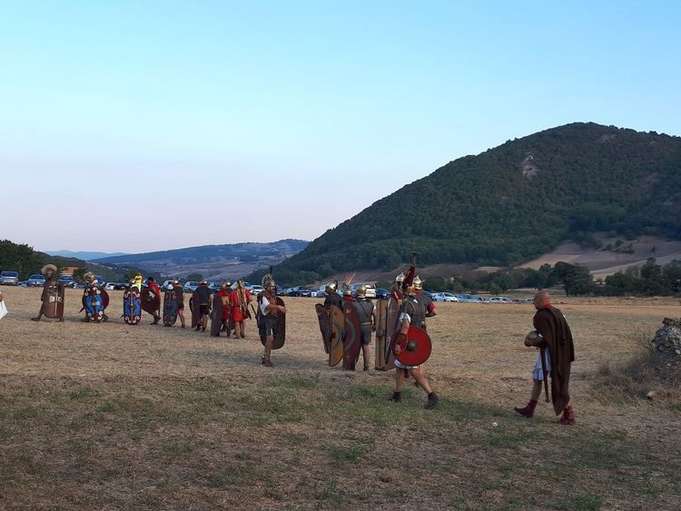 Roman troops in the Numistro battle against Ammibale's troops Outdoors Mountain Large Group Of People Tradition Scenics Culture Arts Culture And Entertainment