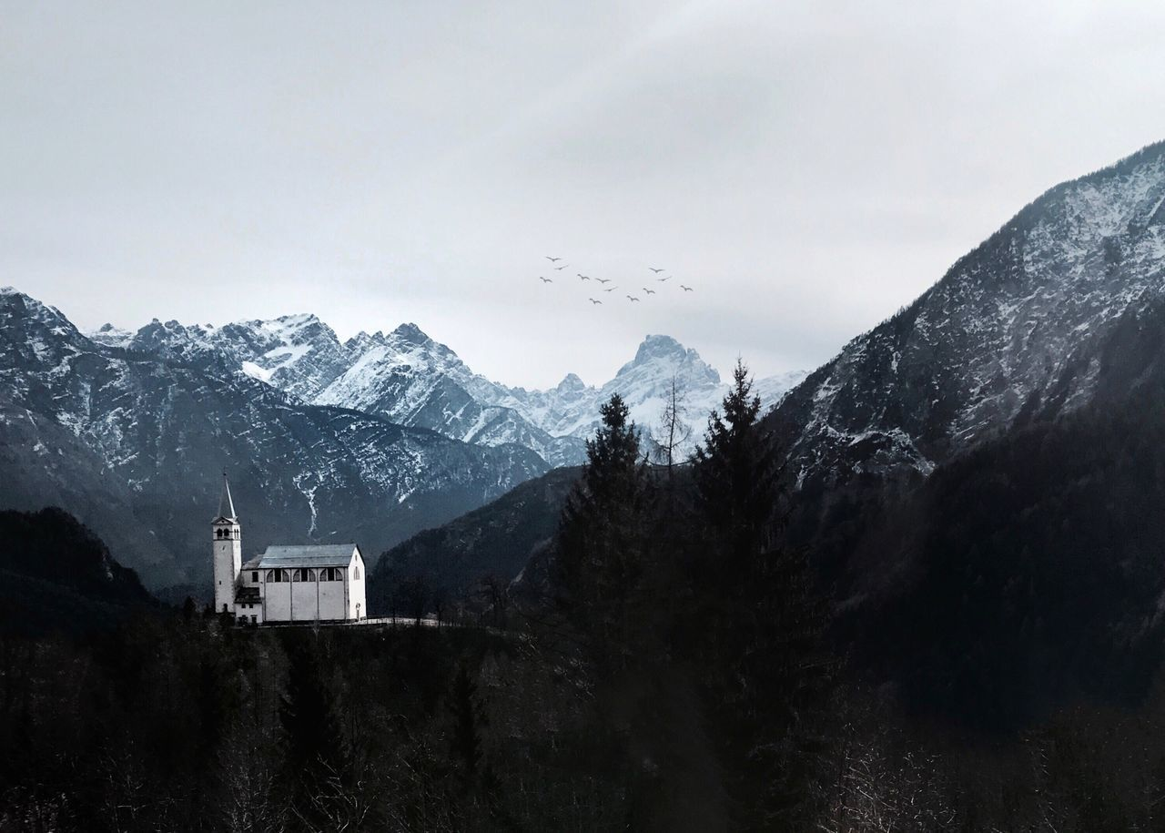 Mountain Architecture Sky Mountain Range Snow No People Day Beauty In Nature Nature Outdoors Italy