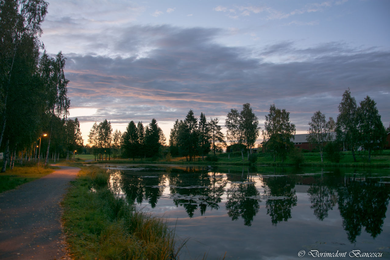 Evening Sky Evening Sky Nature Lake Reflections In The Water Sky And Clouds Sunset Trees Trees And Sky