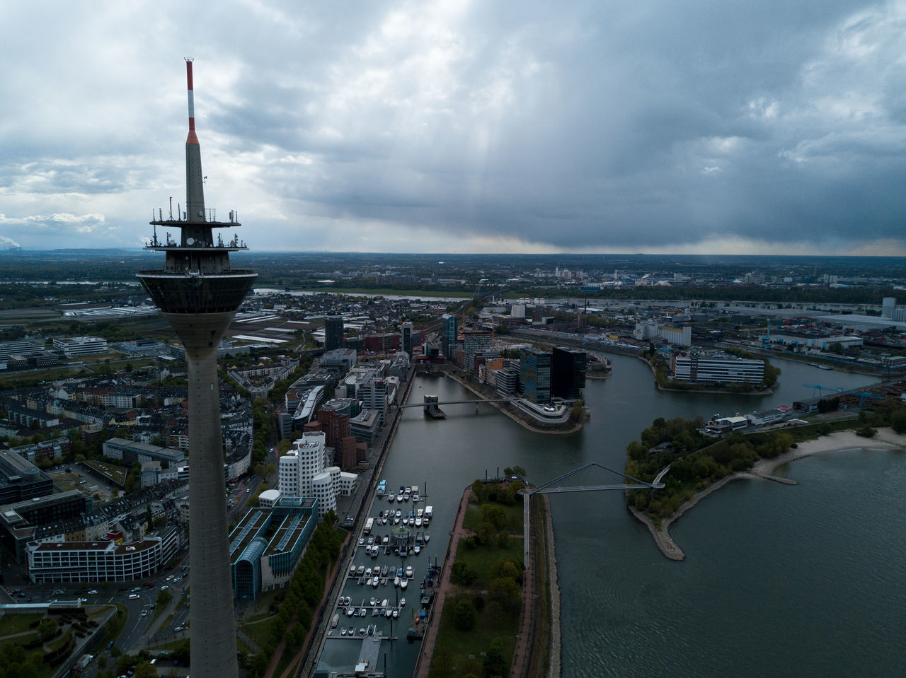 Before the storm sets in Cityscape DJI Mavic Pro Dramatic Dramatic Sky Drone  Dronephotography Germany Rainy Travel TV Tower
