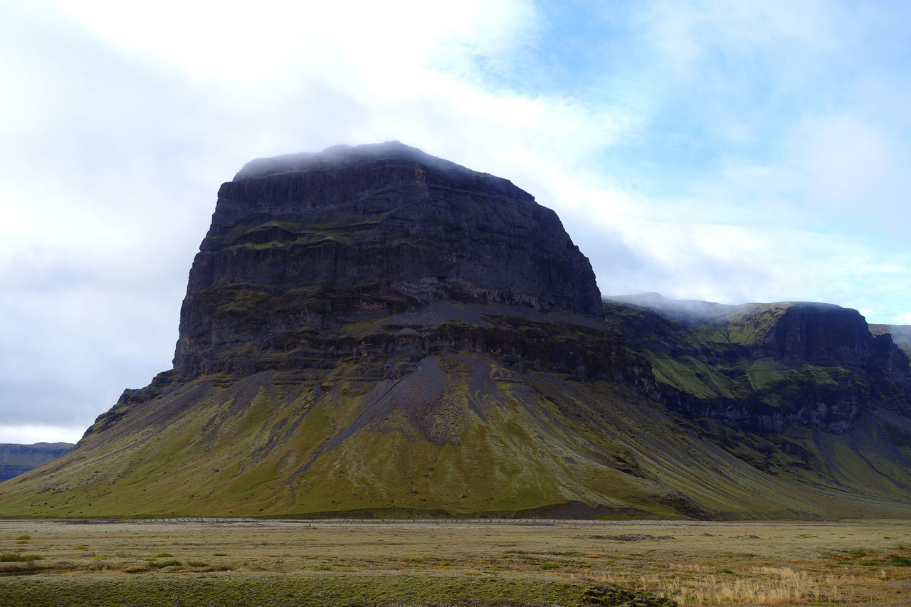 Beauty In Nature Cloud - Sky Day Geology Iceland Landscape Mountain Nature No People Outdoors Physical Geography Scenics Sky Tranquility Travel Destinations Trip Vik Miles Away The Great Outdoors - 2017 EyeEm Awards Your Ticket To Europe