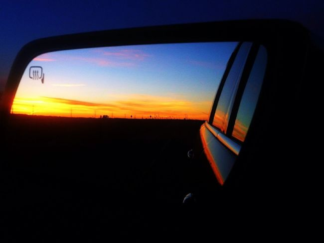 Color in the rear view mirror.