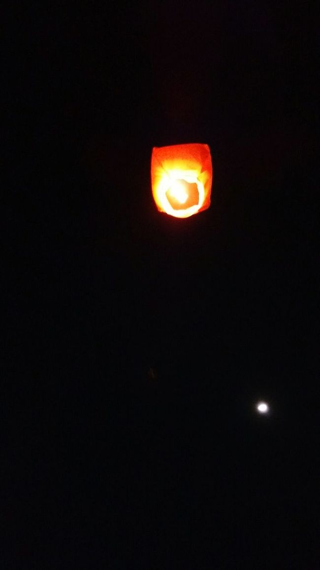The wishing lantern and the moon ClickedTogether❤ 😚