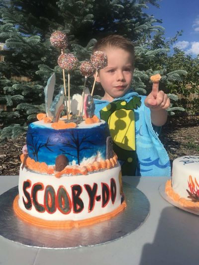 Child Childhood One Boy Only Outdoors Portrait Birthday Boy Nephew Very Cute  Scooby-Doo Cake♥ Cake Decorating Cakedesign Cakelovers Cake Pops Cake Photography ❤