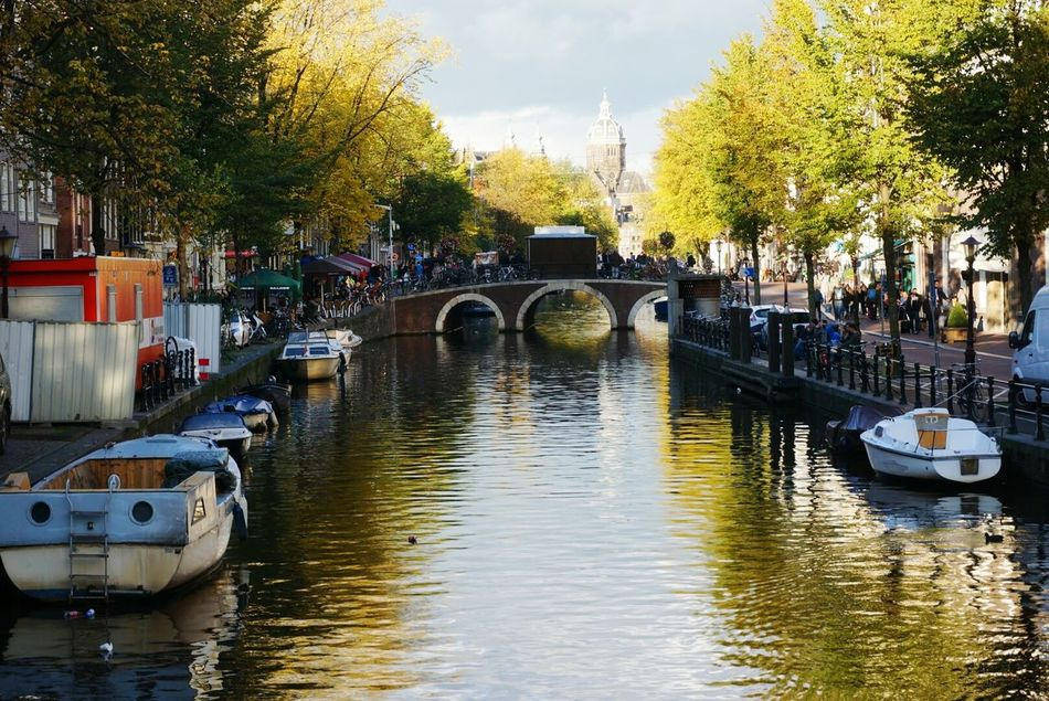 Beautiful stock photos of amsterdam, Architectural Feature, Architecture, Boat, Bridge - Man Made Structure