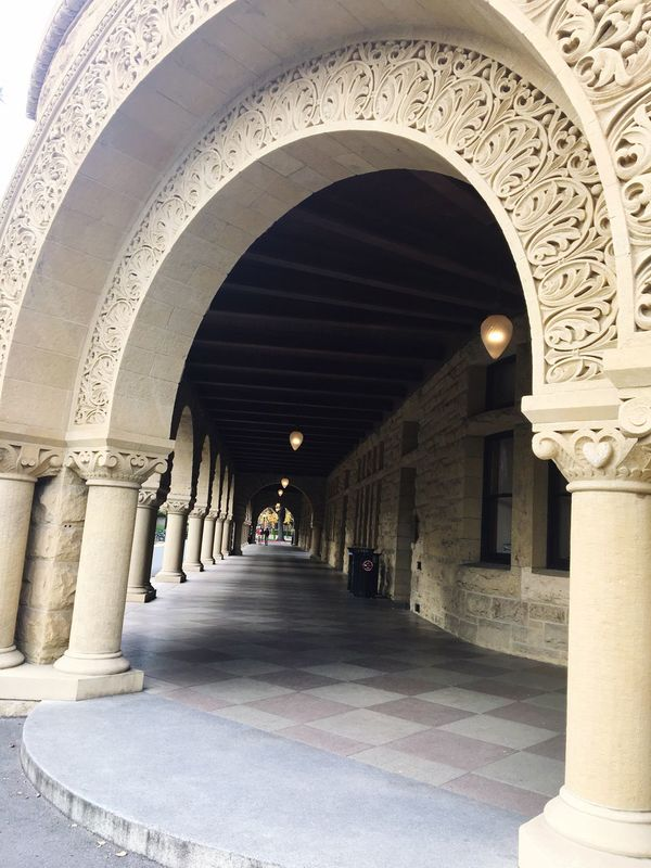 The Architect - 2017 EyeEm Awards Architecture Arch Architectural Column Built Structure Corridor History Indoors  The Way Forward Illuminated Day No People Sanfrancisco Stanford University Stanford