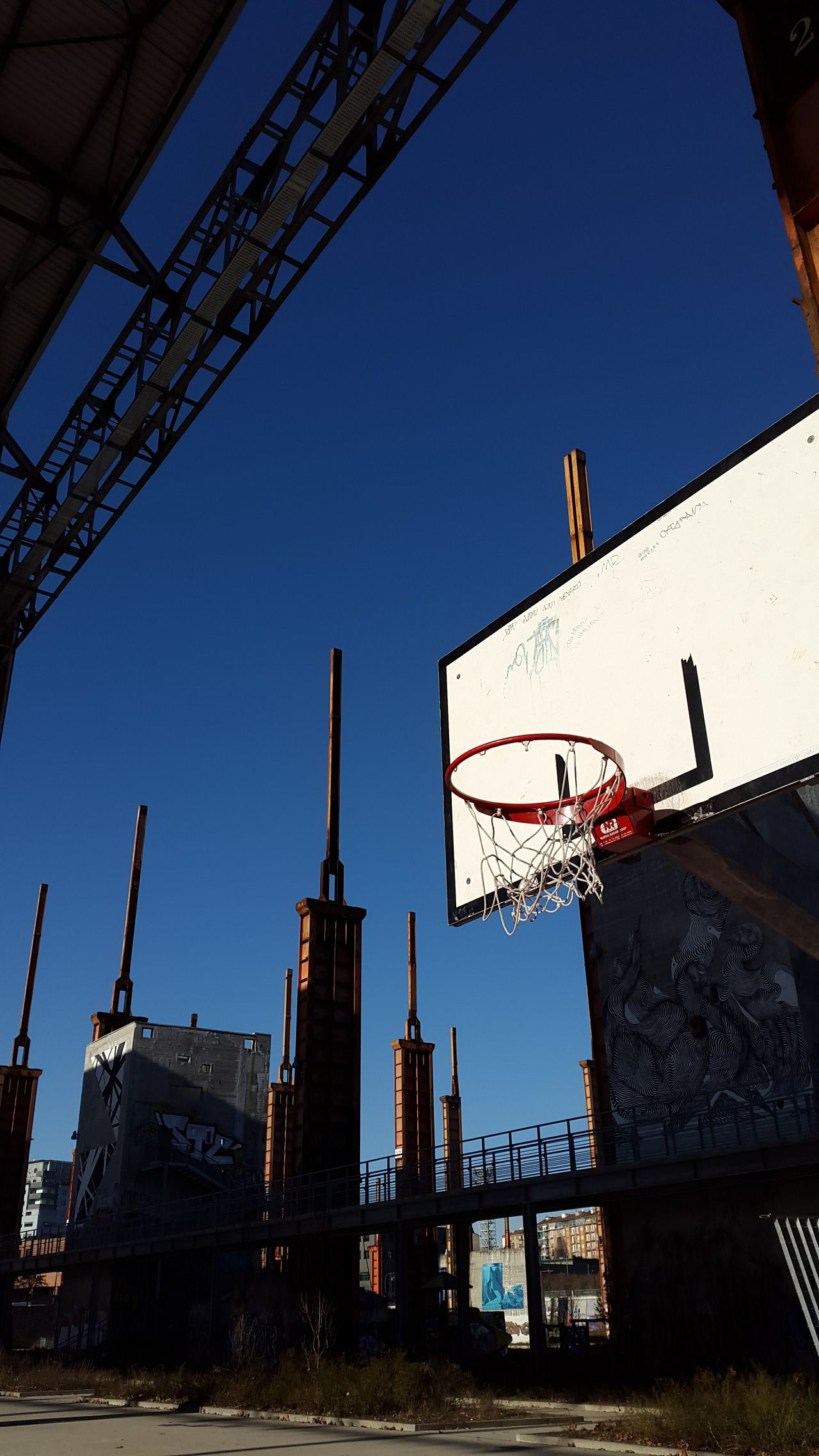 Architecture Sky Day Travel Destinations Built Structure Clear Sky Basketball Sport Basket