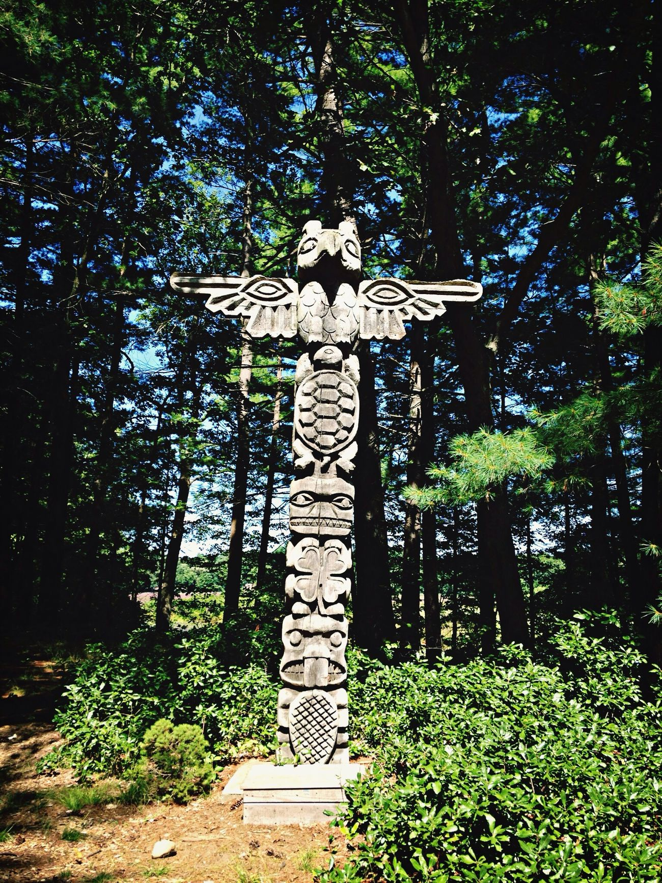 Totem Pole Campleslie Summer Home Sweet Home
